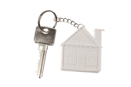 house keychain, isolated on white photo