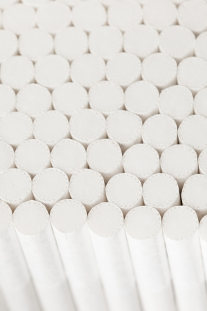 cigarette filter: abstract white filters of cigarettes, closeup view