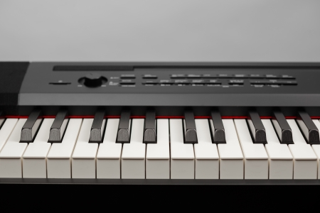 keys of digital piano synthesizer photo