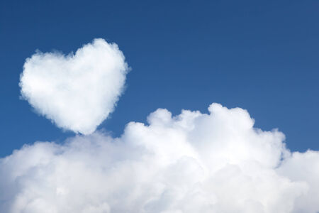 heart shaped cloud in the sky photo