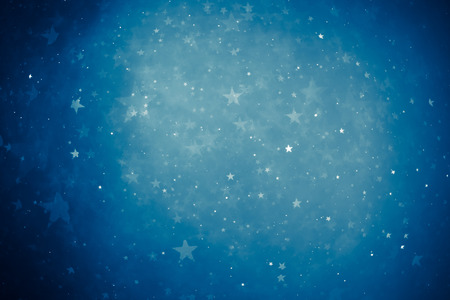 blue shiny stars background photo