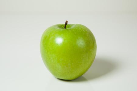 granny smith: granny smith green apple on white background Stock Photo