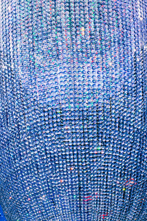 multitude: abstract blue background with multitude of crystals