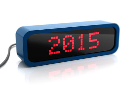 led display: Led display of 2015 new year, isolated on white