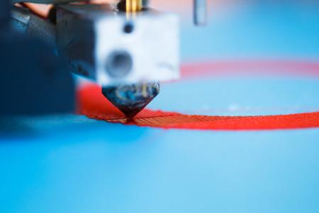 Leiter der 3D-Drucker in Aktion Standard-Bild - 31280899