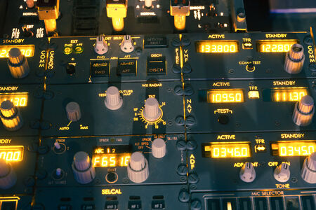 dashboard of an aircraft