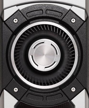 turbofan: turbo ventilador de la tarjeta gr�fica Foto de archivo