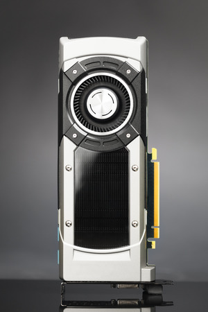 turbofan: professional gaming graphic card, grey background