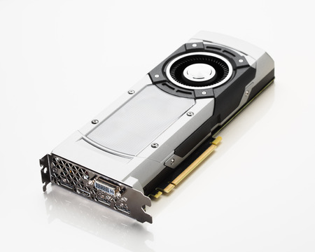 pci card: professional gaming graphic card, white background Stock Photo