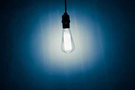 electric bulb: vintage electric bulb lamp with cold light Stock Photo