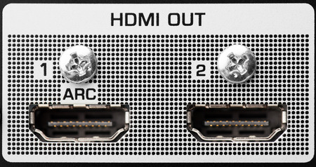 fullhd: HDMI out port, closeup view