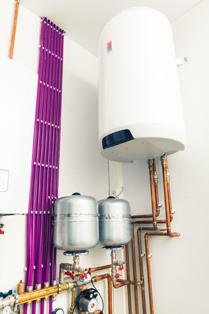 water tank: independent heating system with boiler
