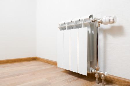 verwarmingsradiator thuis Stockfoto