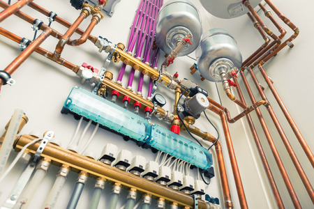 and heating: independent heating system in boiler-house