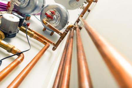 koperen buizen techniek in boiler-room