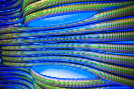 corrugation: corrugation metal pipes abstract blue background