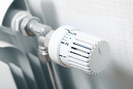temperature knob of heating radiator 스톡 콘텐츠