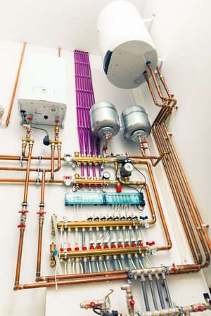 independent: independent heating system in boiler-house