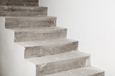 concrete steps: Concrete staircase under construction