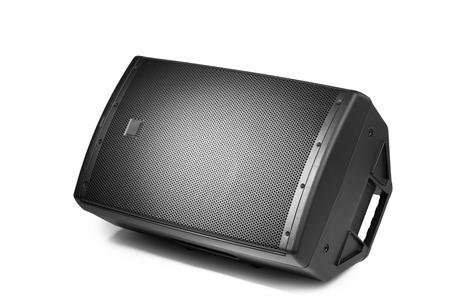 Floor audio luidspreker PA monitor, geïsoleerd op wit