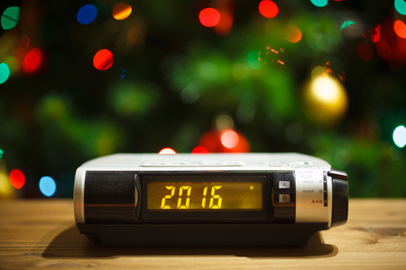 led display: Led display of alarm clock with 2016 new year