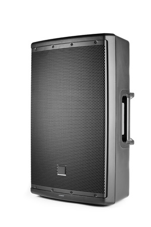 pa: professional audio speaker PA, isolated on white