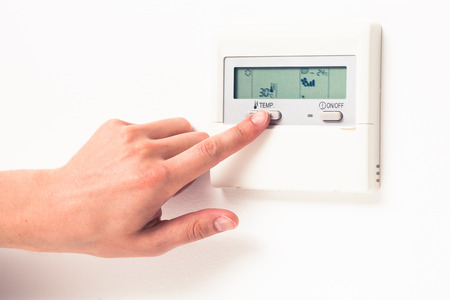 conserve: digital climate thermostat controlling by hand