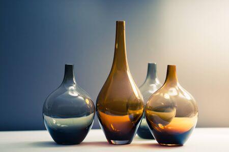 multitude: multitude of glass vases