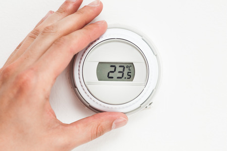 celsius: digital climate thermostat controlling by hand