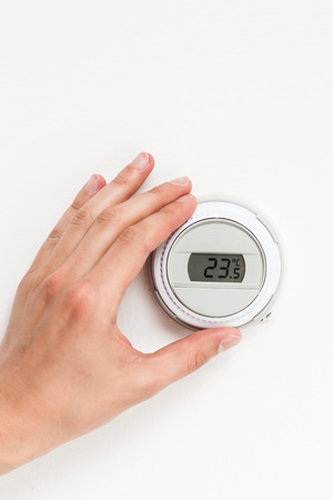 the climate: digital climate thermostat controlling by hand