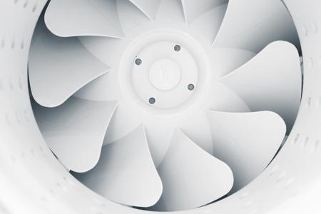 part of fan blades of modern ventilation system