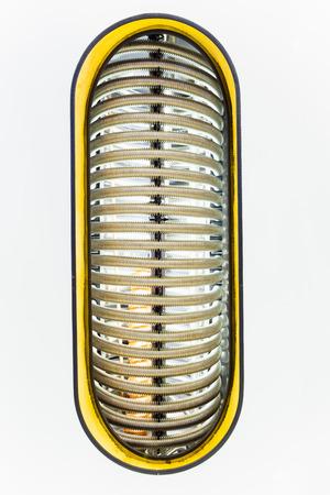 corrugation: metal pipes of water heating boiler