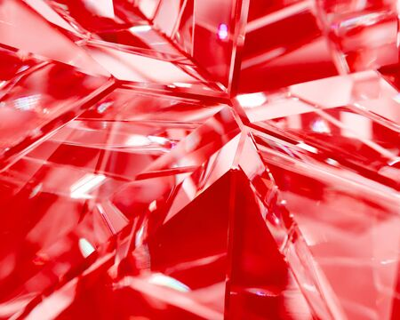 refractions: abstract red background of crystal refractions