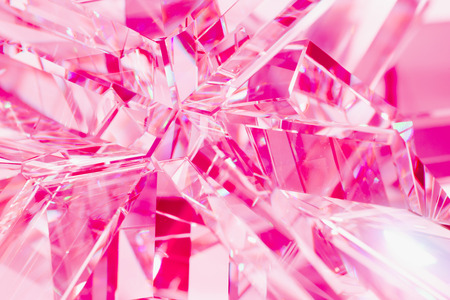 abstract pink background of crystal refractions