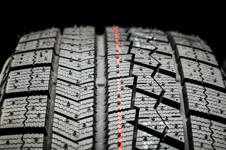 studless winter tire protector, closeup view Stock Photo
