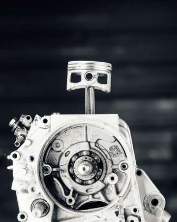 shaft: engine driving shaft bearing and piston