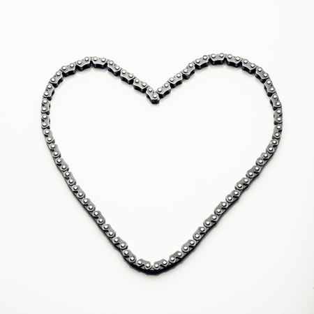timing: engine timing chain, heart shape Stock Photo