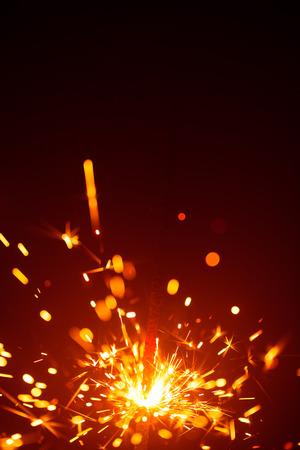 haze: Christmas sparkler in haze with red light