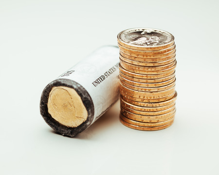 dollar coins: golden dollar coins, US mint roll