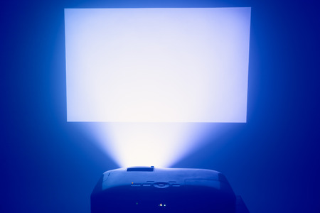 ray tracing: projector in action with illuminated screen