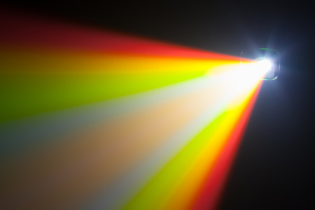 ray tracing: color light of projector
