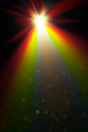 ray trace: color light background of projector Stock Photo