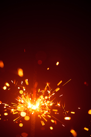 copyspace: Christmas background with sparkler and copy-space Stock Photo
