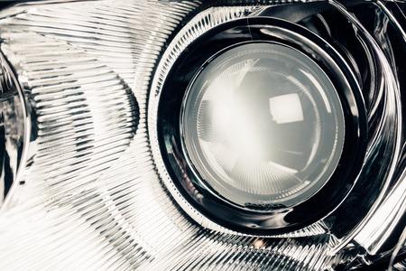 elites: xenon led headlight lamp optic lens, macro view