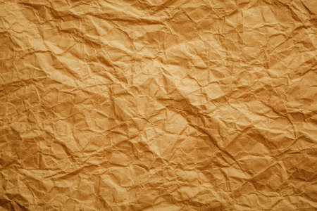 rumpled: old brown crumpled paper textured background