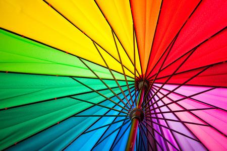 spokes: rainbow spectrum multicolored background of an umbrella spokes