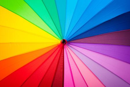 multicolored: rainbow spectrum multicolored background of an umbrella Stock Photo