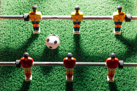 top: table football game, top view Stock Photo
