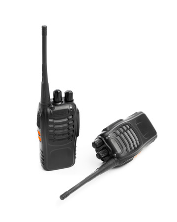 transmitter: portable radios Walkie-talkie isolated on white Stock Photo