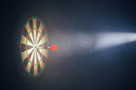 darts board illuminated with a spotlight Reklamní fotografie